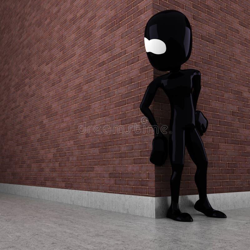 Download 3d Man Evil Criminal Waiting Stock Illustration - Image: 17007189