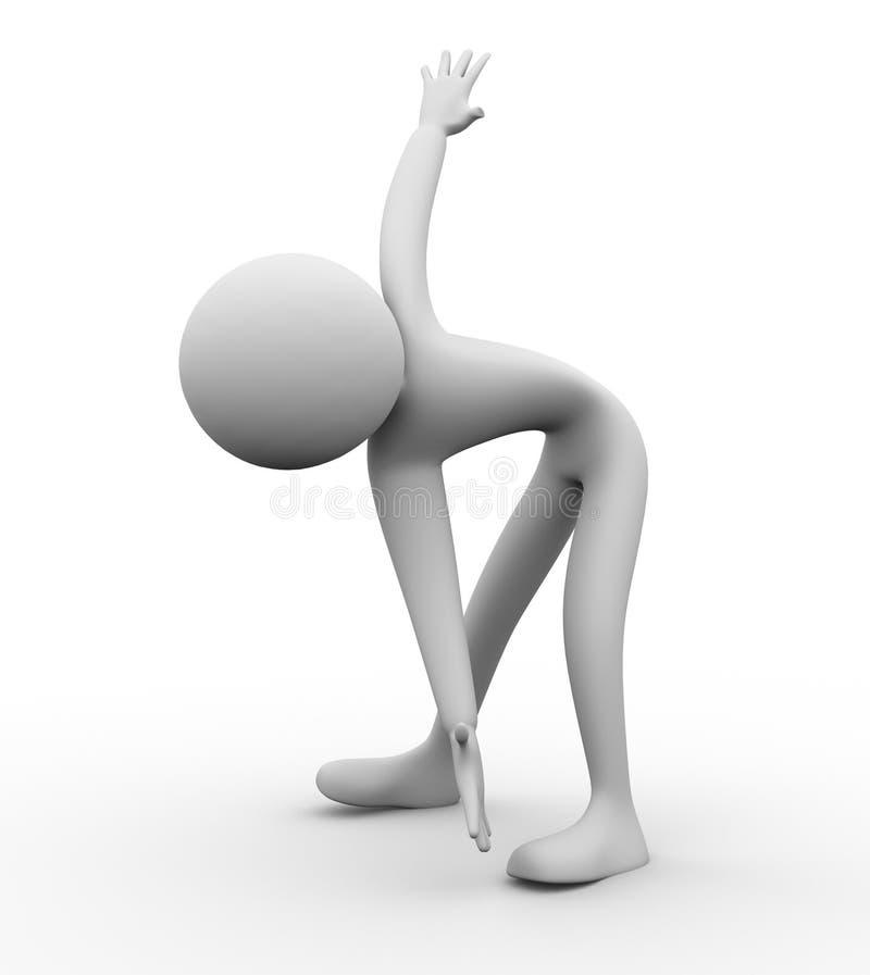 3d man exercise stock illustration