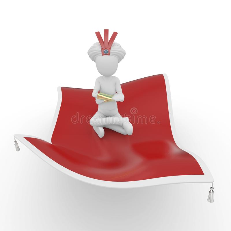 Download 3d man with flying carpet stock illustration. Image of flying - 16667225