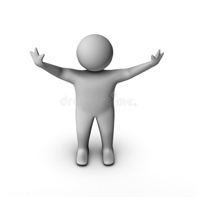 Download 3d Man In 'hello' Pose Royalty Free Stock Image - Image: 13072656