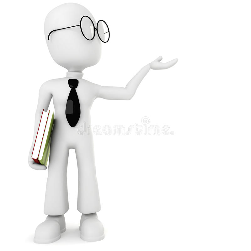 Free 3d Man Holding Colorful Books Royalty Free Stock Image - 13846816