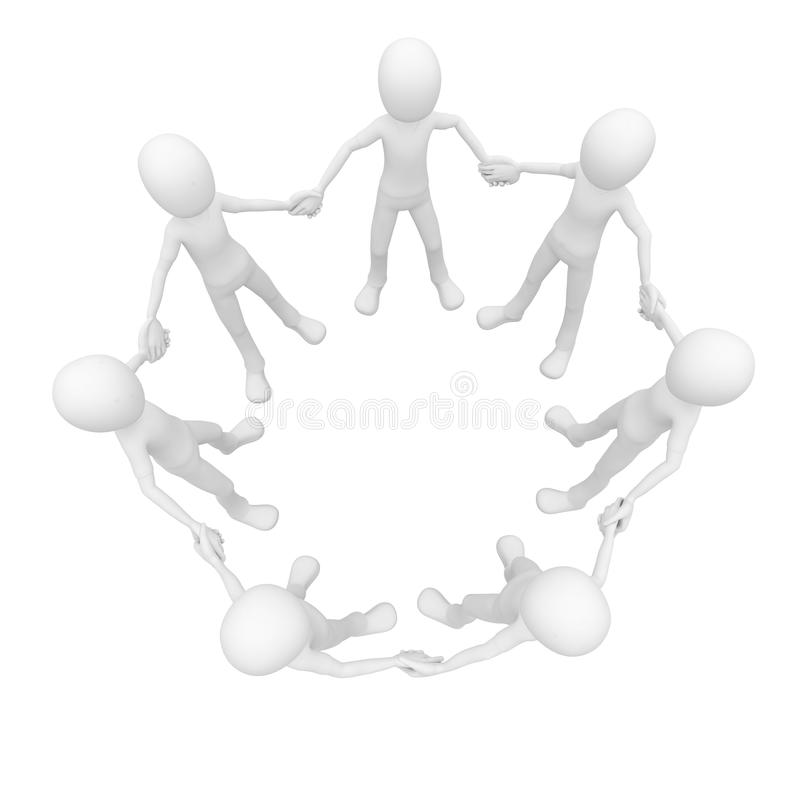 Download 3d Man Holding Hands In Unity Stock Illustration - Image: 15565857