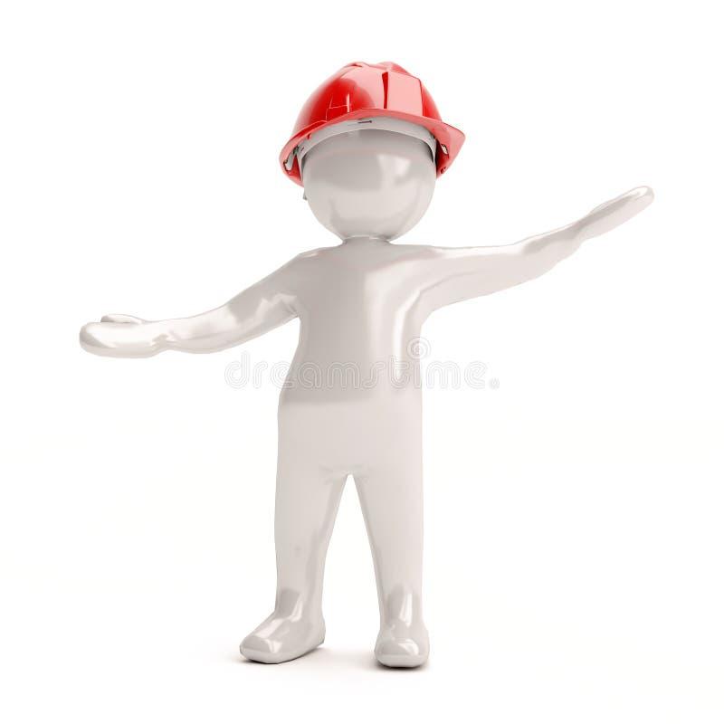 Free 3D Man In Helmet Stock Photos - 43819073