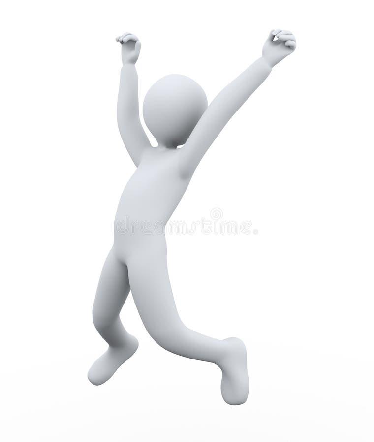 Download 3d man joy jumping stock illustration. Image of jumping - 27419742