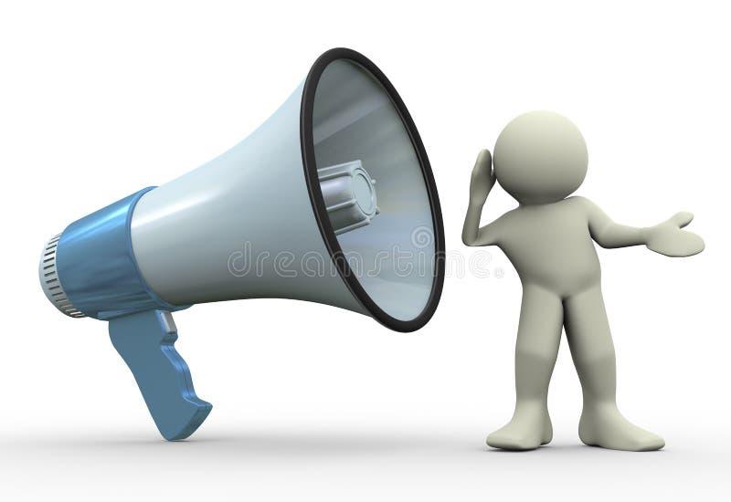 Download 3d Man Listening Stock Image - Image: 24201001