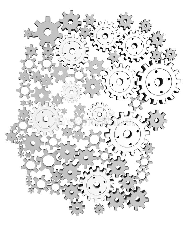 3d Man Machine royalty free illustration
