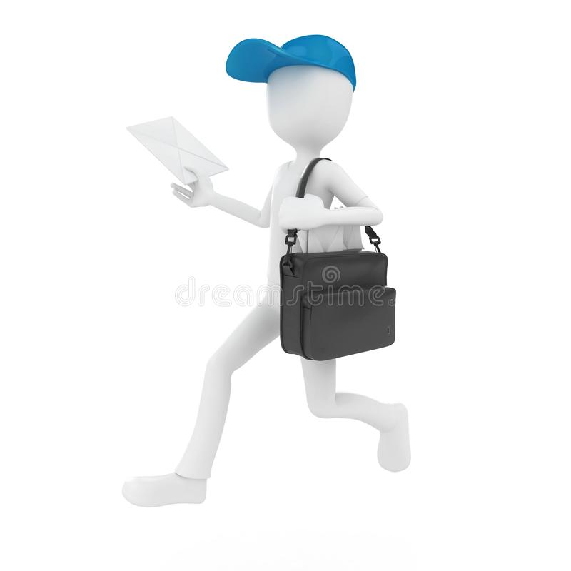 Download 3d man mail delivery stock illustration. Image of expression - 17037617