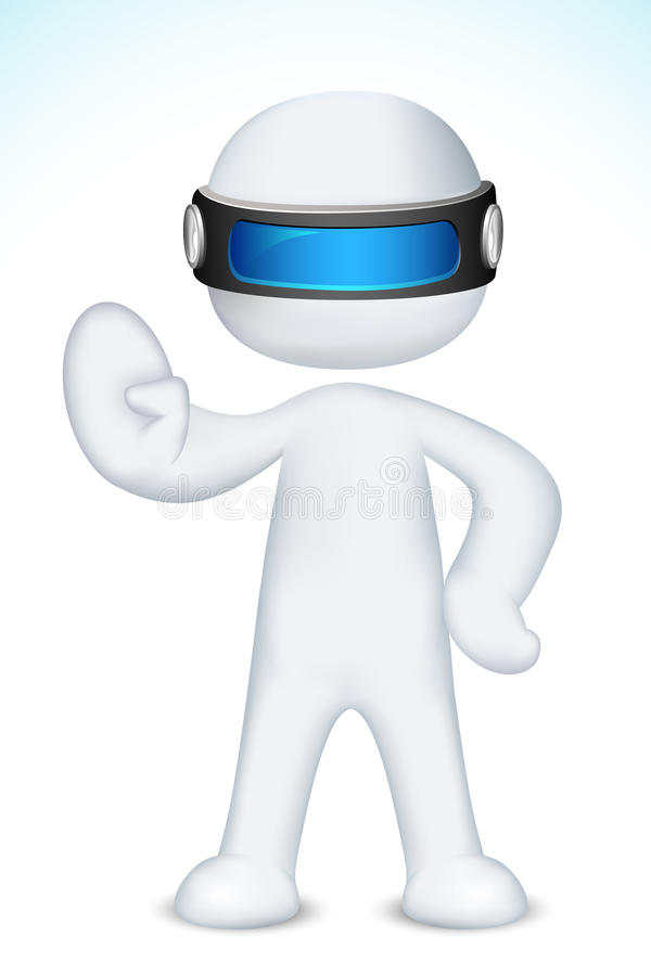 3d Man making Stop with his Hand
