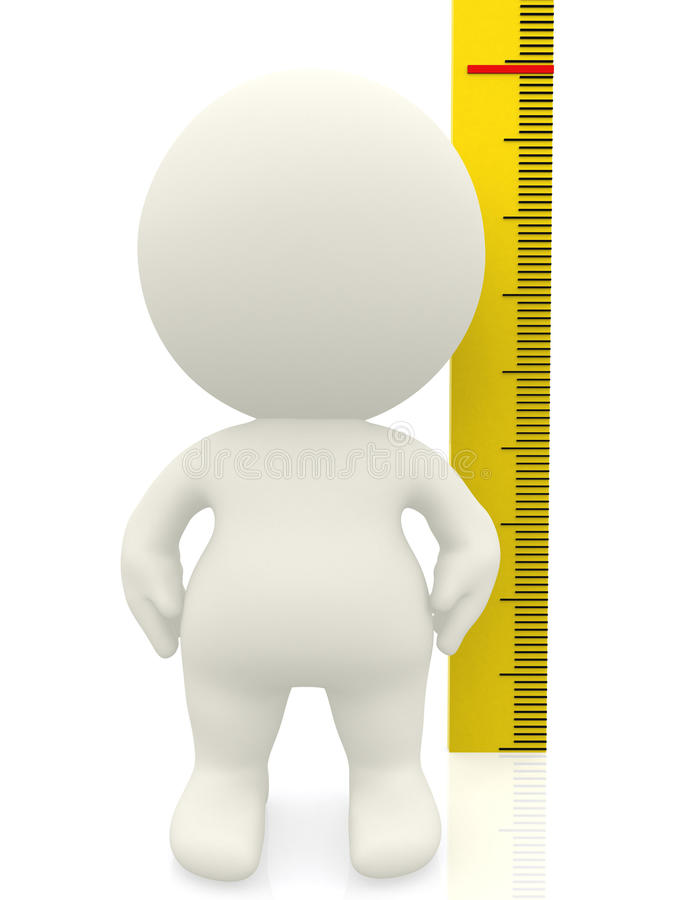 3D man measuring