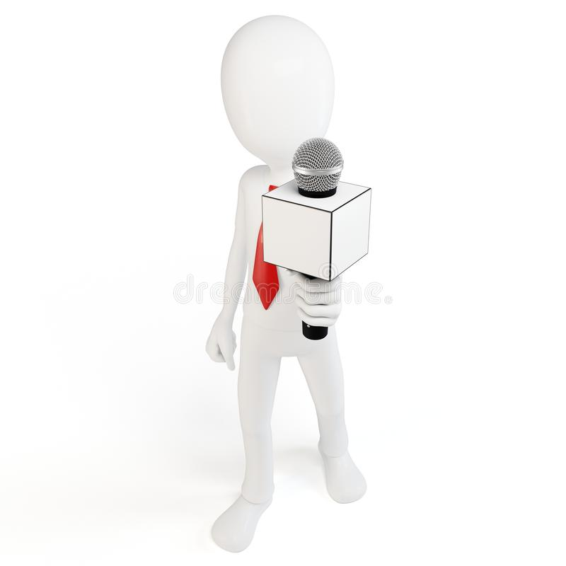 Download 3d Man With Microphone Interview Concept Stock Illustration - Image: 20329316