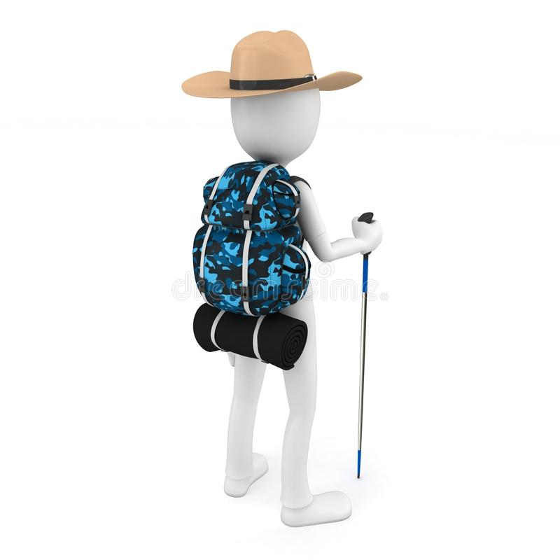 Download 3d Man Mountain Climber Tourist With A Backpack Stock Illustration - Image: 20672854