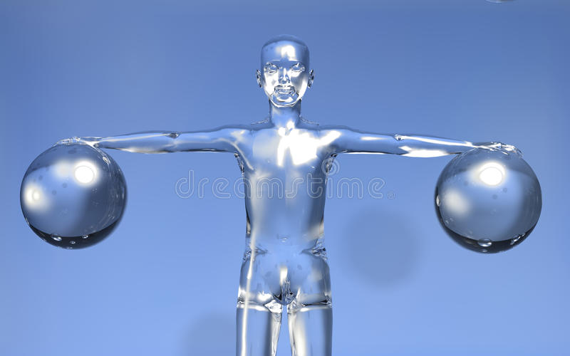 3d Man new digital era concept stock images