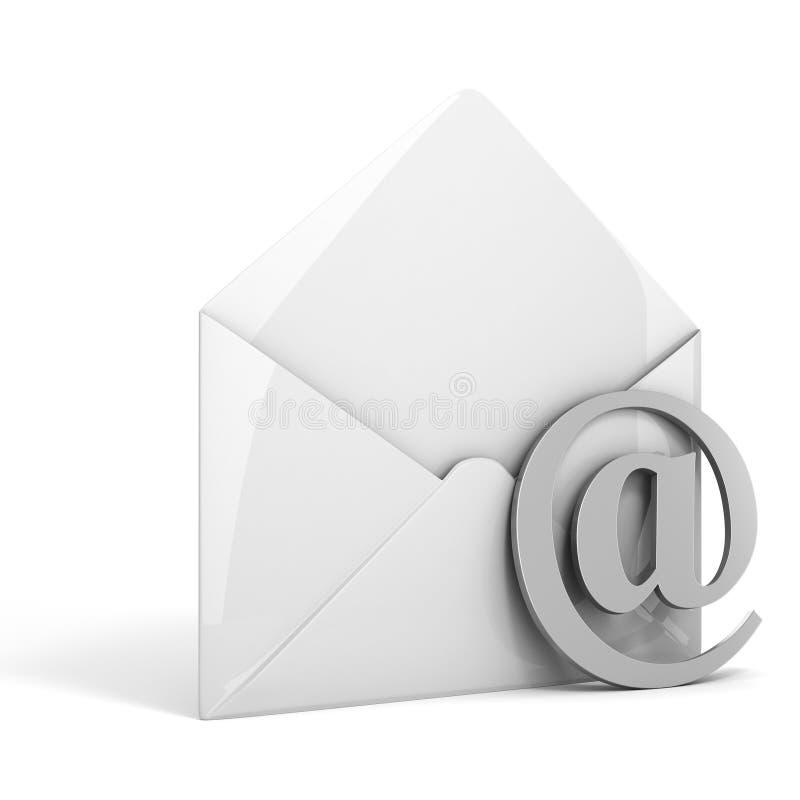 3d man online mail concept vector illustration