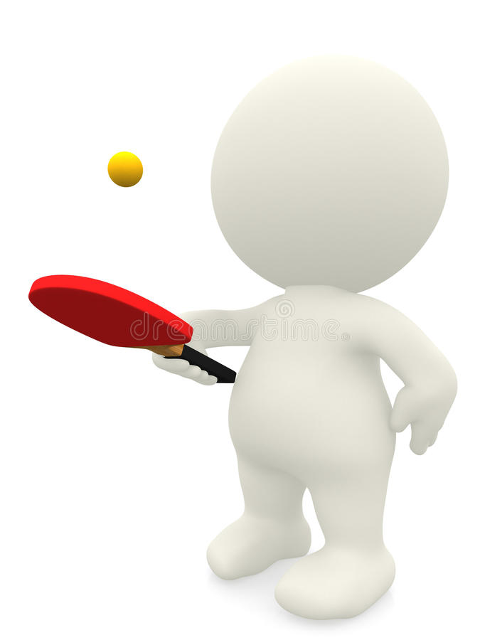 Download 3D man playing ping pong stock illustration. Image of racket - 27164545