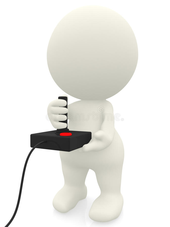 Download 3D man playing video games stock illustration. Image of play - 19944839