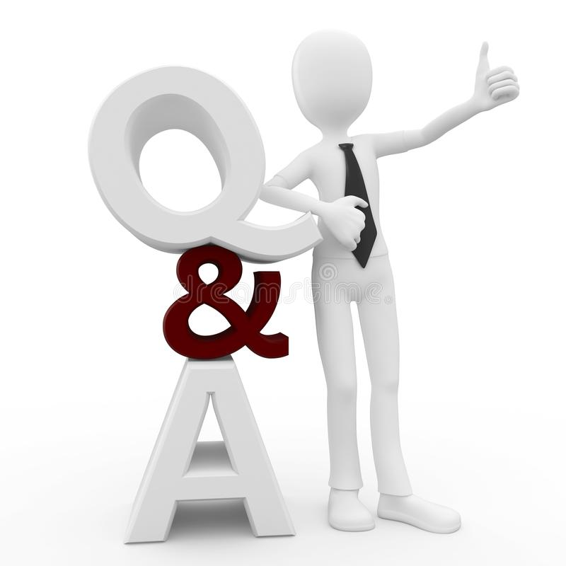 Download 3d Man With Question And Answer Sign Stock Illustration - Image: 18494334