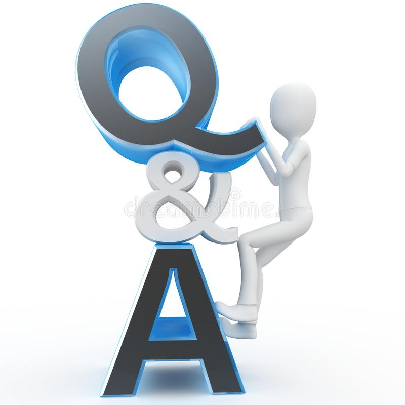 Download 3d Man With Question And Answer Sign Stock Photos - Image: 18494343