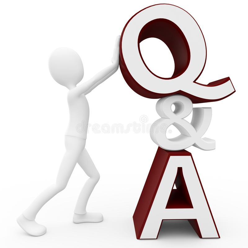 Download 3d Man With Question And Answer Sign Stock Images - Image: 18494364