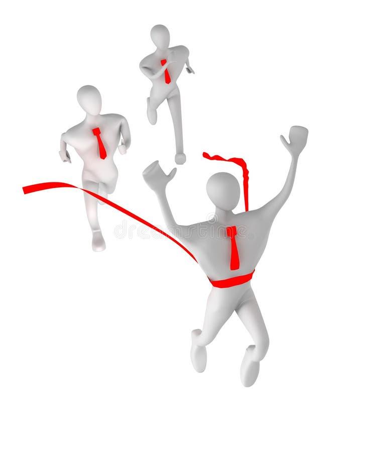 Download 3d Man With Red Finish Line Stock Illustration - Illustration of motion, render: 20594938