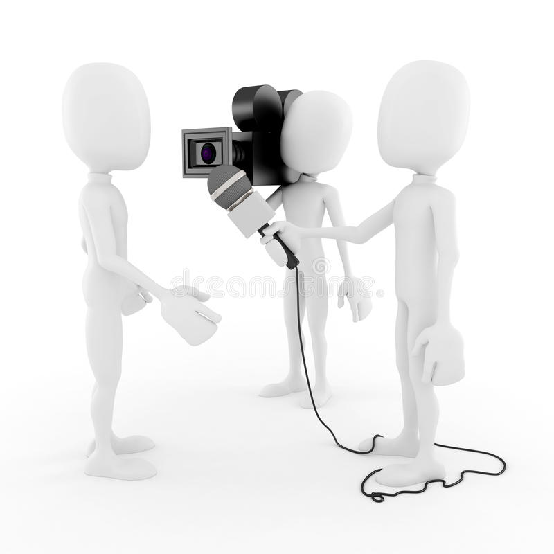 Download 3d Man Reporter - Interview Concept Stock Illustration - Image: 27654380