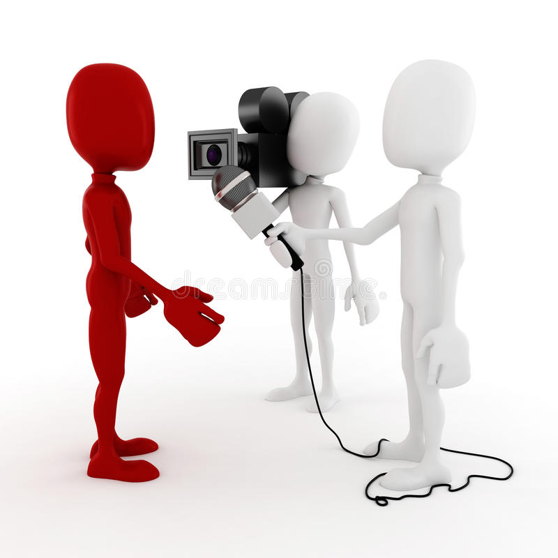 Download 3d Man Reporter - Interview Concept Stock Illustration - Image: 27654381
