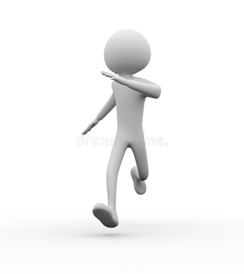 3d man running. On white background vector illustration