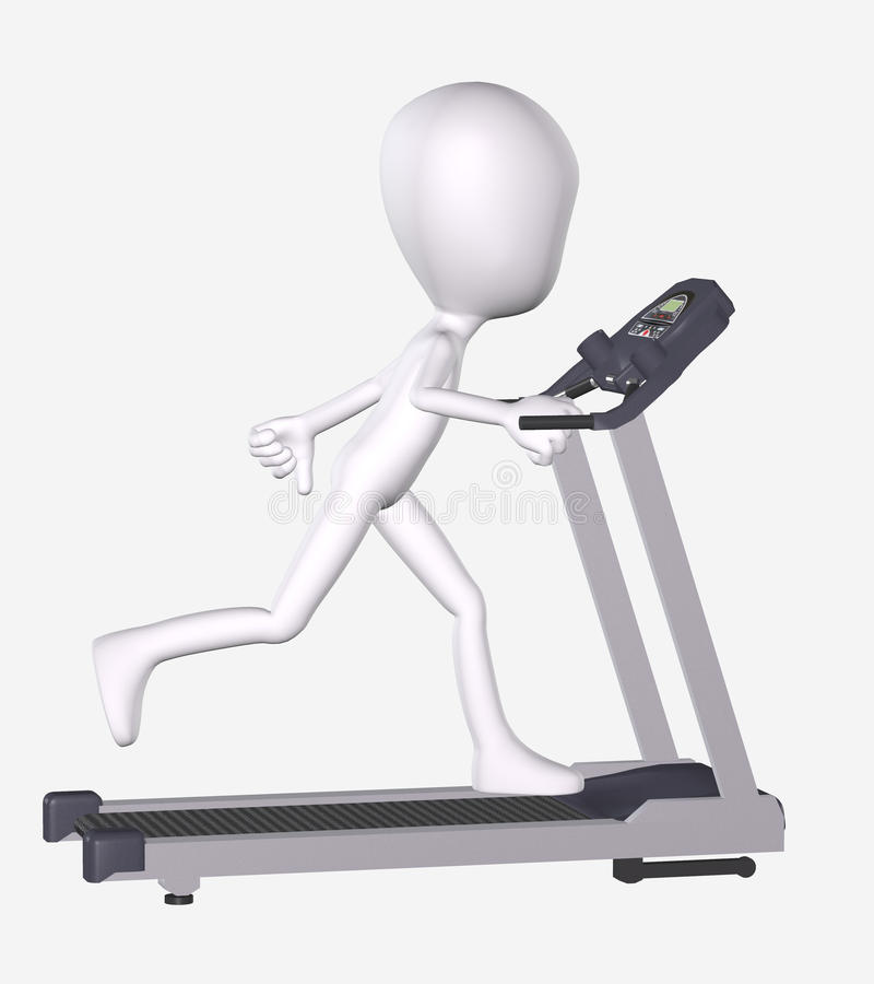 Download 3D Man Running On Treadmill Royalty Free Stock Photo - Image: 19077545