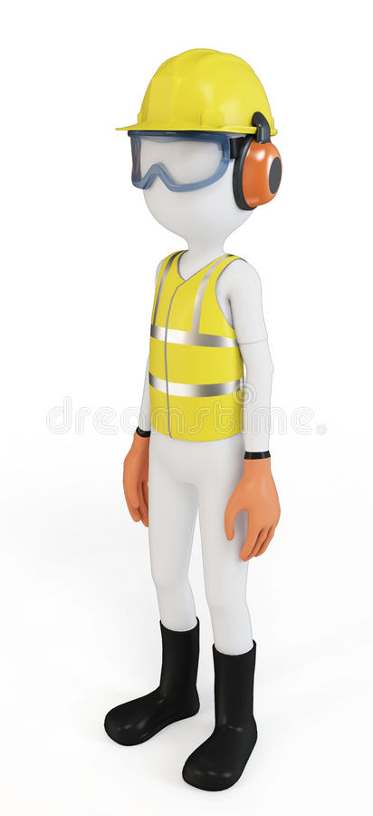 Download 3d Man With Safety Equipment Stock Illustration - Illustration: 23915242