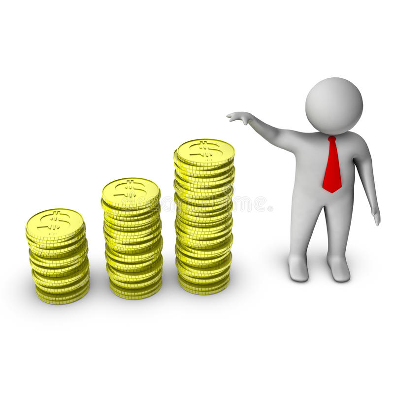Download 3d Man Showing Growth In Money Stock Illustration - Image: 14705846