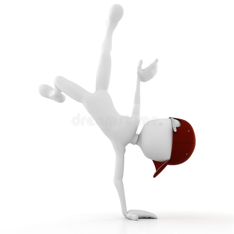 Download 3d Man Street Dancer Performing Some Cool Moves Stock Illustration - Image: 17007237