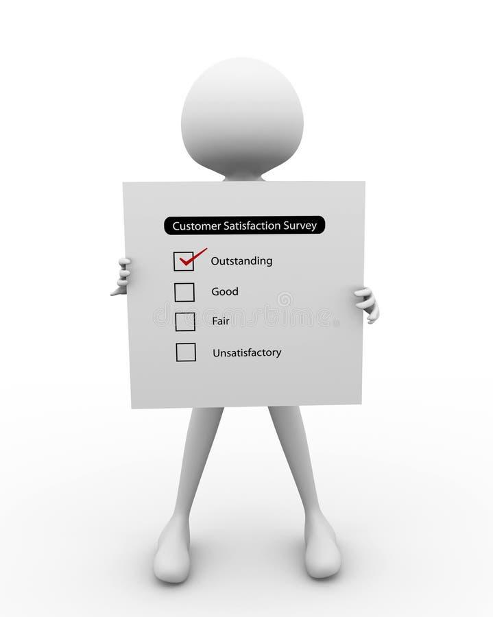 3D man with Survey Report stock illustration. Illustration ...