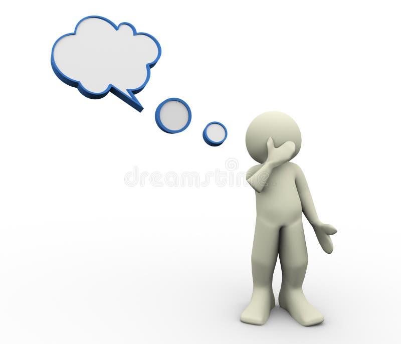 Download 3d man thinking stock illustration. Image of idea, explain - 23961326