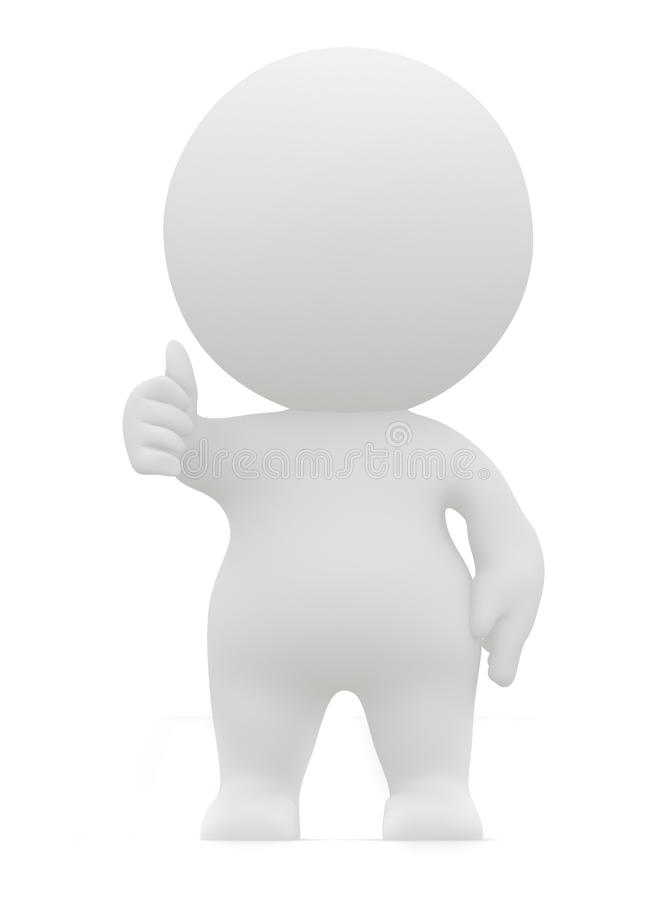 3D man with thumbs-up