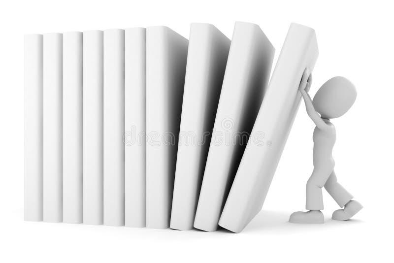 Download 3d man vs the books stock illustration. Image of smart - 13953528