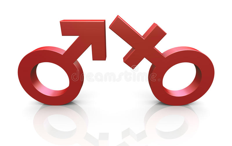 3d Man And Woman Symbols Royalty Free Stock Photography