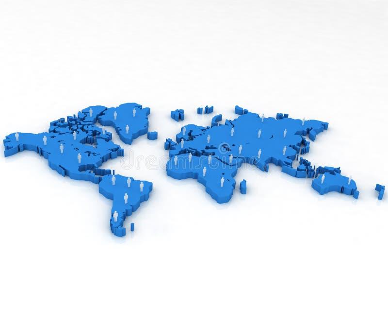 Download 3d map stock illustration. Image of human, business, relationship - 13209867