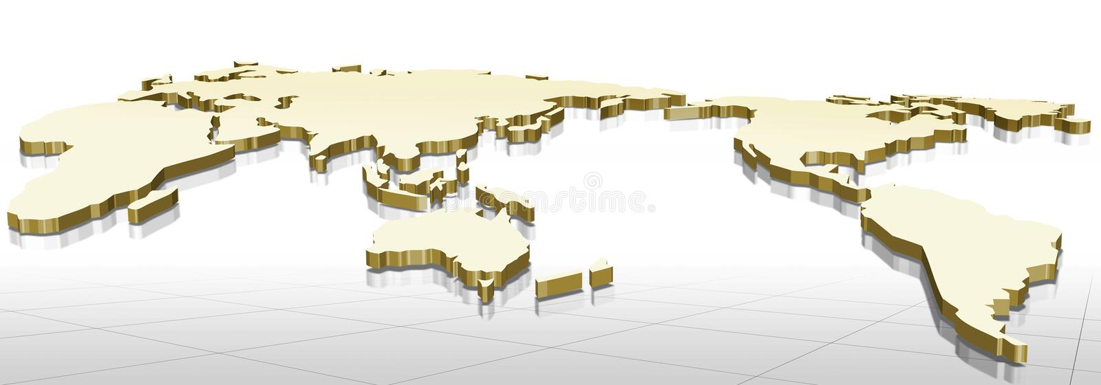 3d map royalty free illustration