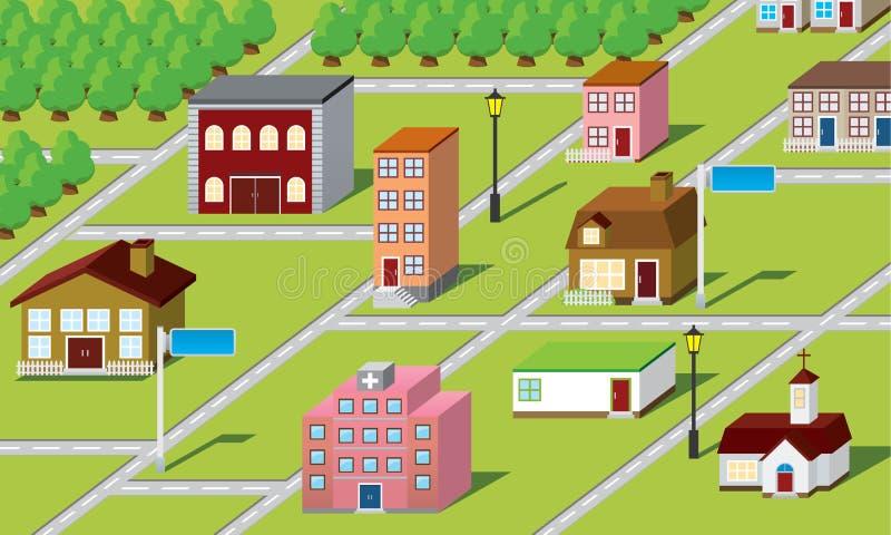 3d mapa ilustracji