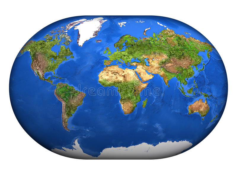 3d mapa mundi ilustracji