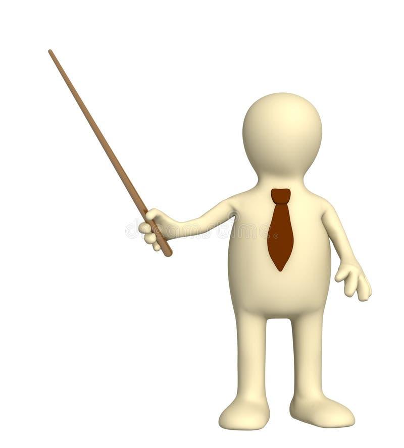 3d marionnette - homme d'affaires dans une relation étroite avec la sélection illustration de vecteur