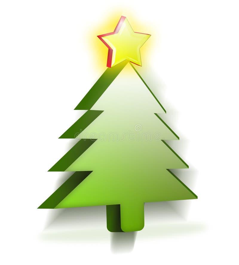 3d mas drzewo x ilustracja wektor