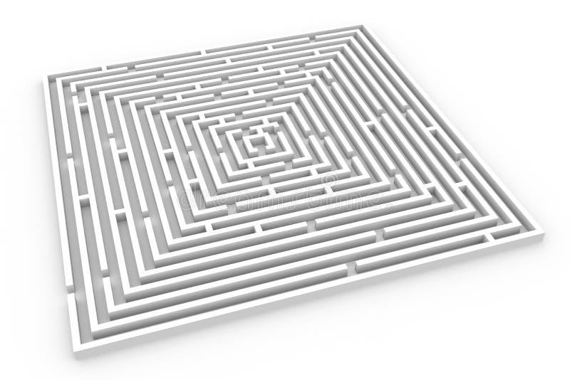 Download 3D maze stock illustration. Illustration of emergence - 21379804