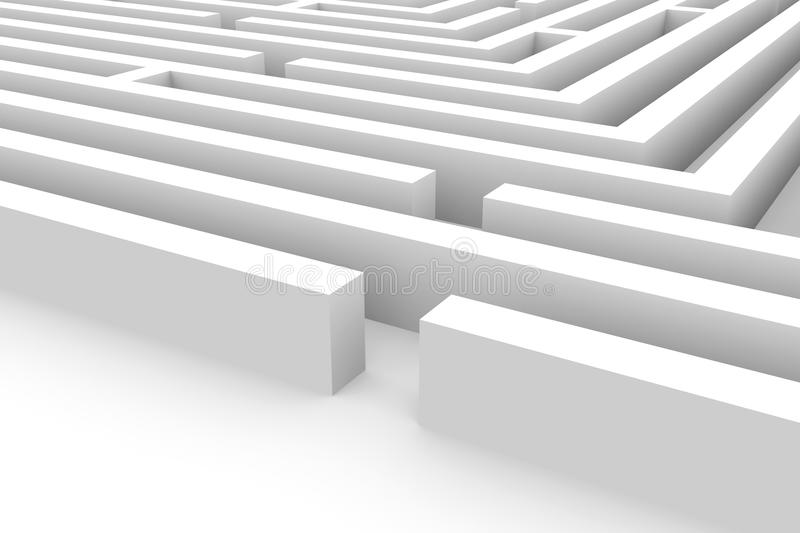 Download 3D maze stock illustration. Illustration of strategy - 21379808