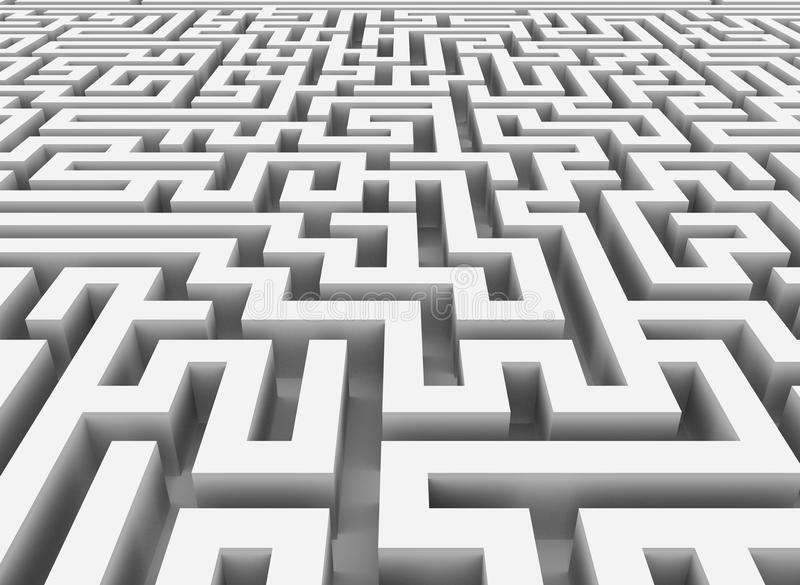Download 3d maze stock illustration. Image of choice, modern, pattern - 25355749