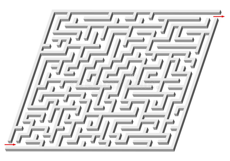 3d Maze Stock Photo