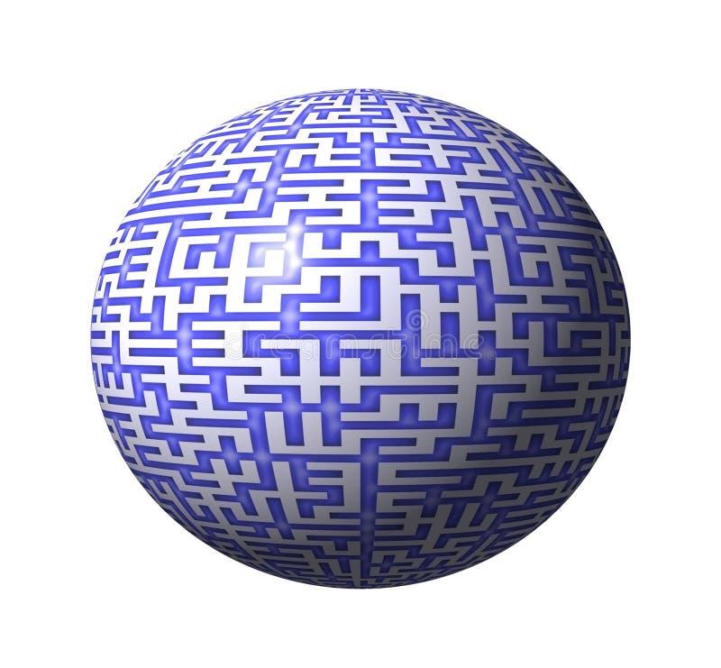 3D Maze vector illustration