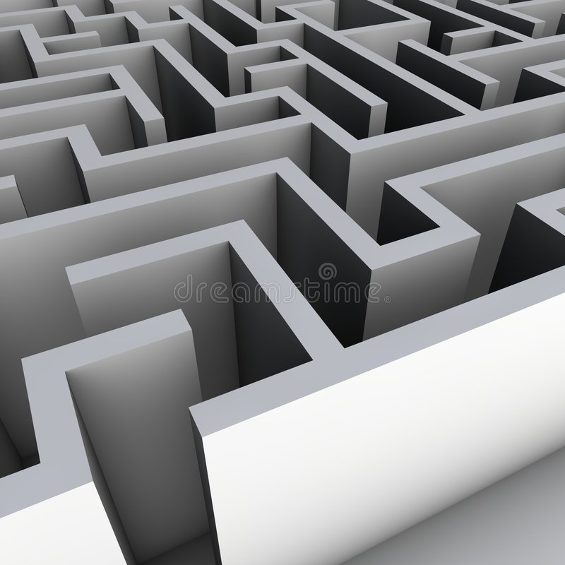 Download 3D Maze stock illustration. Image of find, complete, puzzle - 8977257