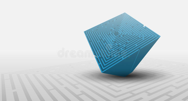 3D maze background royalty free illustration