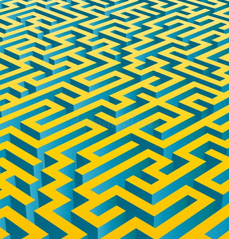 3D maze (vector) royalty free stock photo