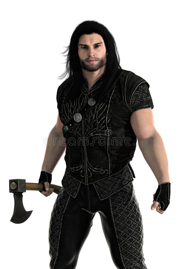 Free 3D Medieval Man With Axe Isolated Royalty Free Stock Photo - 138950515